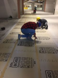 Installing Temporary Floor Protection